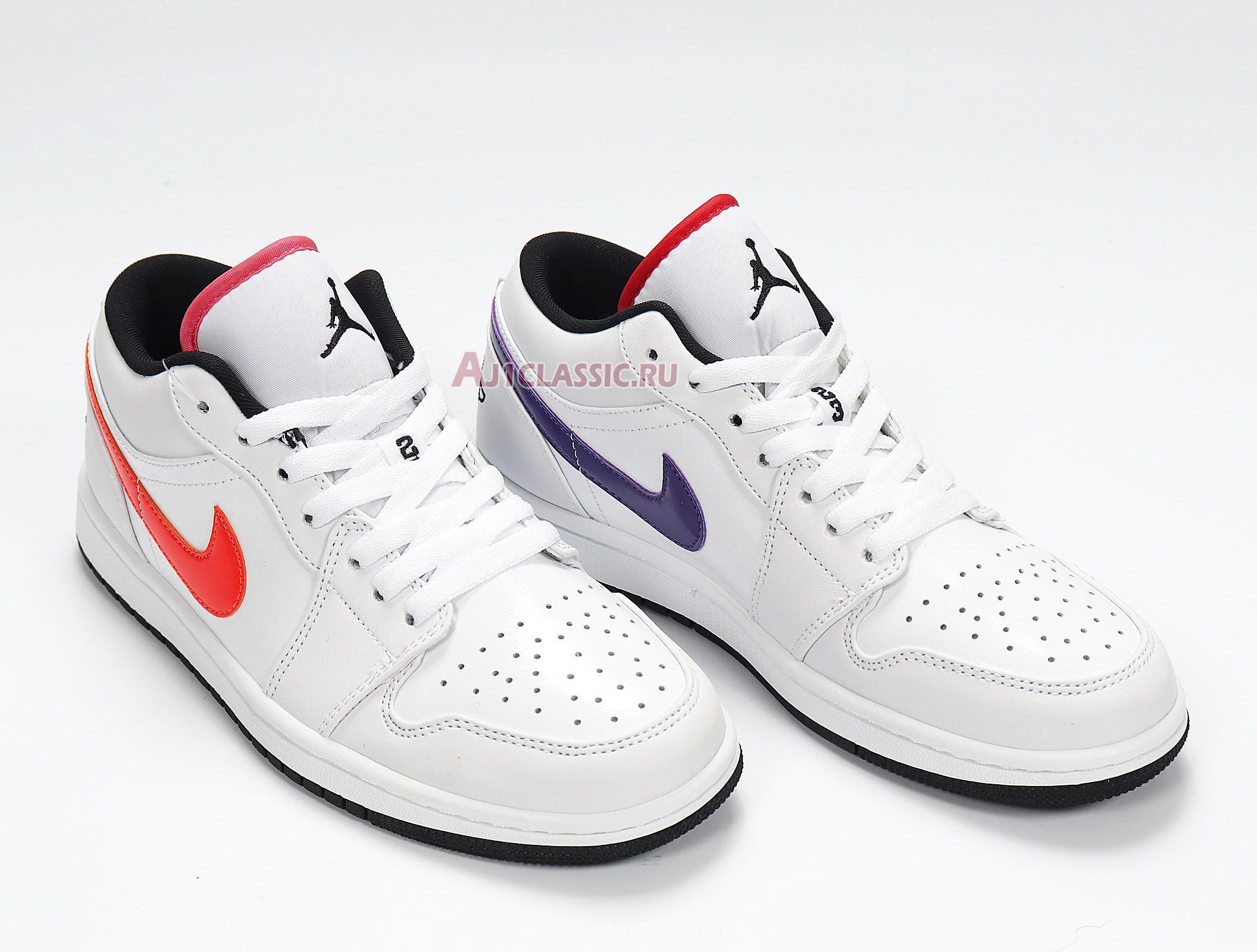 """Air Jordan 1 Low """"Multi-Color Swoosh"""" CW7009-100"""