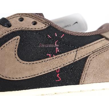 Travis Scott x Air Jordan 1 Low Mocha CQ4277-001 Black/Dark Mocha-University Red-Sail Sneakers