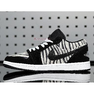 Air Jordan 1 Low Zebra 553560-057 Black/Black/White Sneakers
