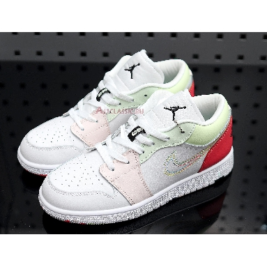 Air Jordan 1 Low Ember Glow 554723-176 White/Ember Glow-Barely Volt-Black Sneakers