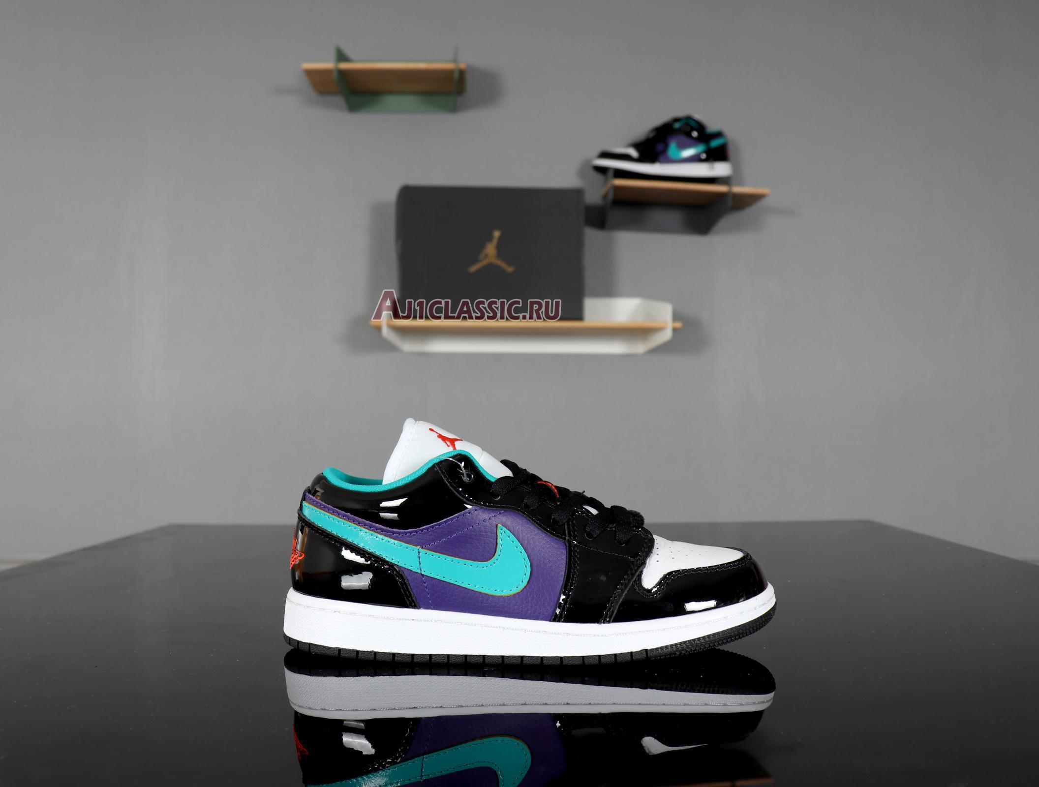 """Air Jordan 1 Low GS """"Black Turbo Green"""" 553560-035"""