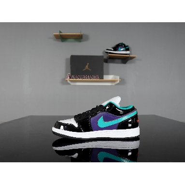 Air Jordan 1 Low GS Black Turbo Green 553560-035 Black/Turbo Green-White Sneakers