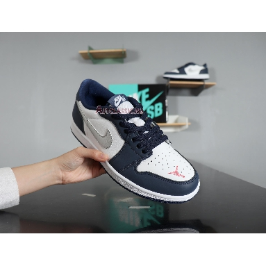Eric Koston x Air Jordan 1 Low SB Midnight Navy CJ7891-400 Midnight Navy/White-Ember Glow-Metallic Silver Sneakers