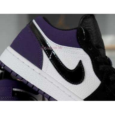 Air Jordan 1 Low Court Purple 553558-125 White/Black-Court Purple Sneakers