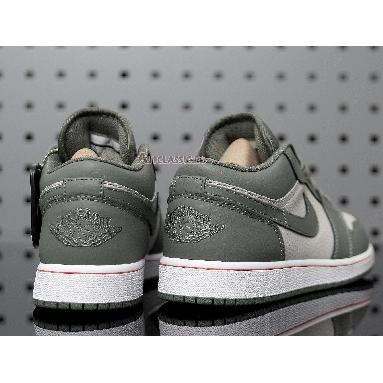 Air Jordan 1 Low Military Themed 553558-121 Military Green/White/Orange Sneakers
