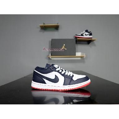 Air Jordan 1 Retro Low Obsidian Ember 553558-481 Obsidian/Ember Glow-White Sneakers