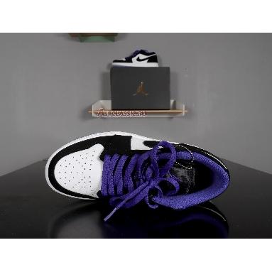 Air Jordan 1 Low Concord 553558-108 White/Black/Dark Concord Sneakers