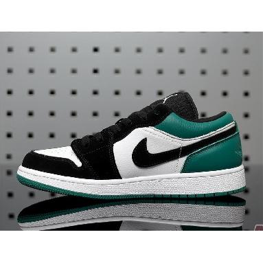 Air Jordan 1 Retro Low Emerald Rise 553560-113 White/Emerald Rise-Black Sneakers