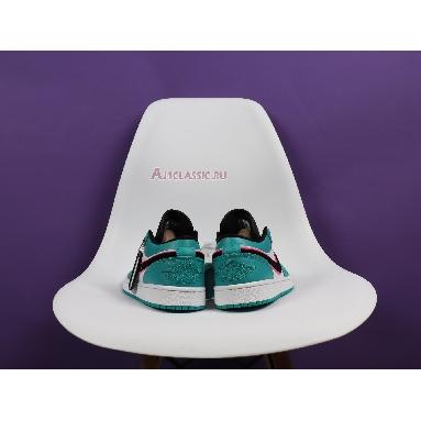 Air Jordan 1 Low South Beach 553558-306 Turbo Green/Black-Hyper Pink-Orange Peel Sneakers