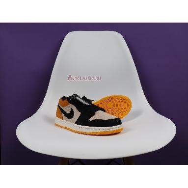Air Jordan 1 Low University Gold 553558-127 Sail/Gym Red-University Gold-Black Sneakers