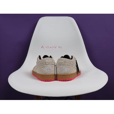 Air Jordan 1 Low White Gym Yellow 553558-119 White/White-Gym Yellow-Hyper Pink Sneakers