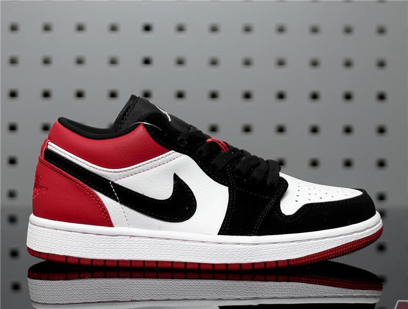 """Air Jordan 1 Low """"Black Toe"""" 553558-116"""