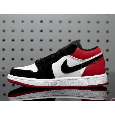Air Jordan 1 Low Black Toe 553558-116 White/Black-Gym Red Sneakers