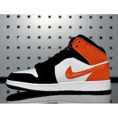 Air Jordan 1 Mid Shattered Backboard 554724-058 Black/Starfish-White Sneakers
