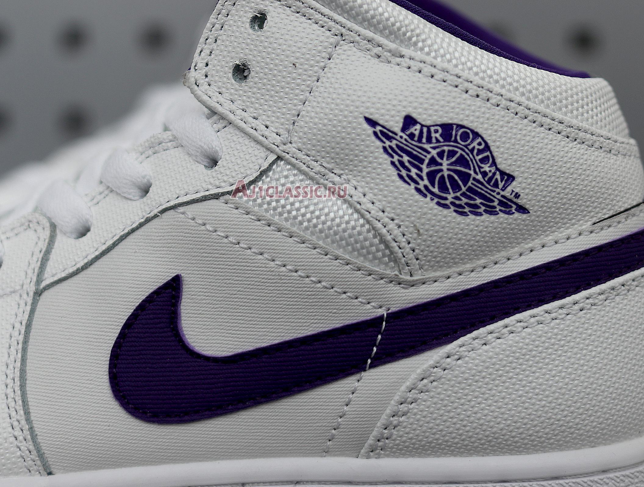 """Air Jordan 1 Retro High """"White Court Purple"""" 332148-137"""