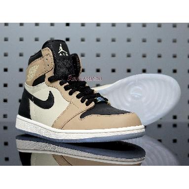 Air Jordan 1 High Premium Fossil AH7389-003 Black/Fossil-Pale Ivory Sneakers