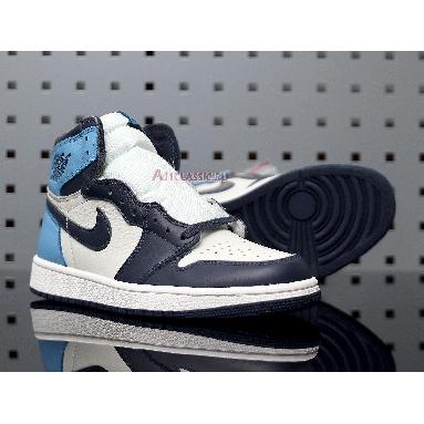 Air Jordan 1 Retro High OG Obsidian 555088-140 Sail/Obsidian-University Blue Sneakers