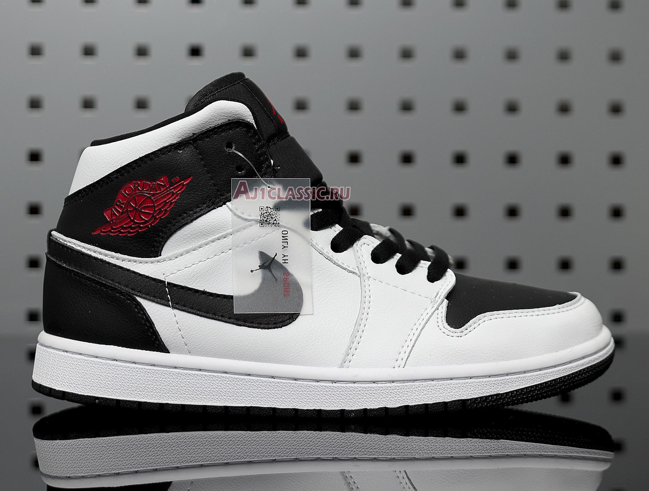"Air Jordan 1 Mid ""White Black"" BQ6472-101"