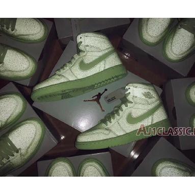 Air Jordan 1 High Premium Barely Volt AH7389-700 Barely Volt/Barely Volt Sneakers