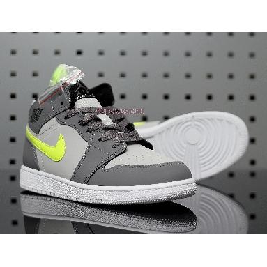 Air Jordan 1 Mid Grey Volt 554724-072 Grey/Volt/White Sneakers