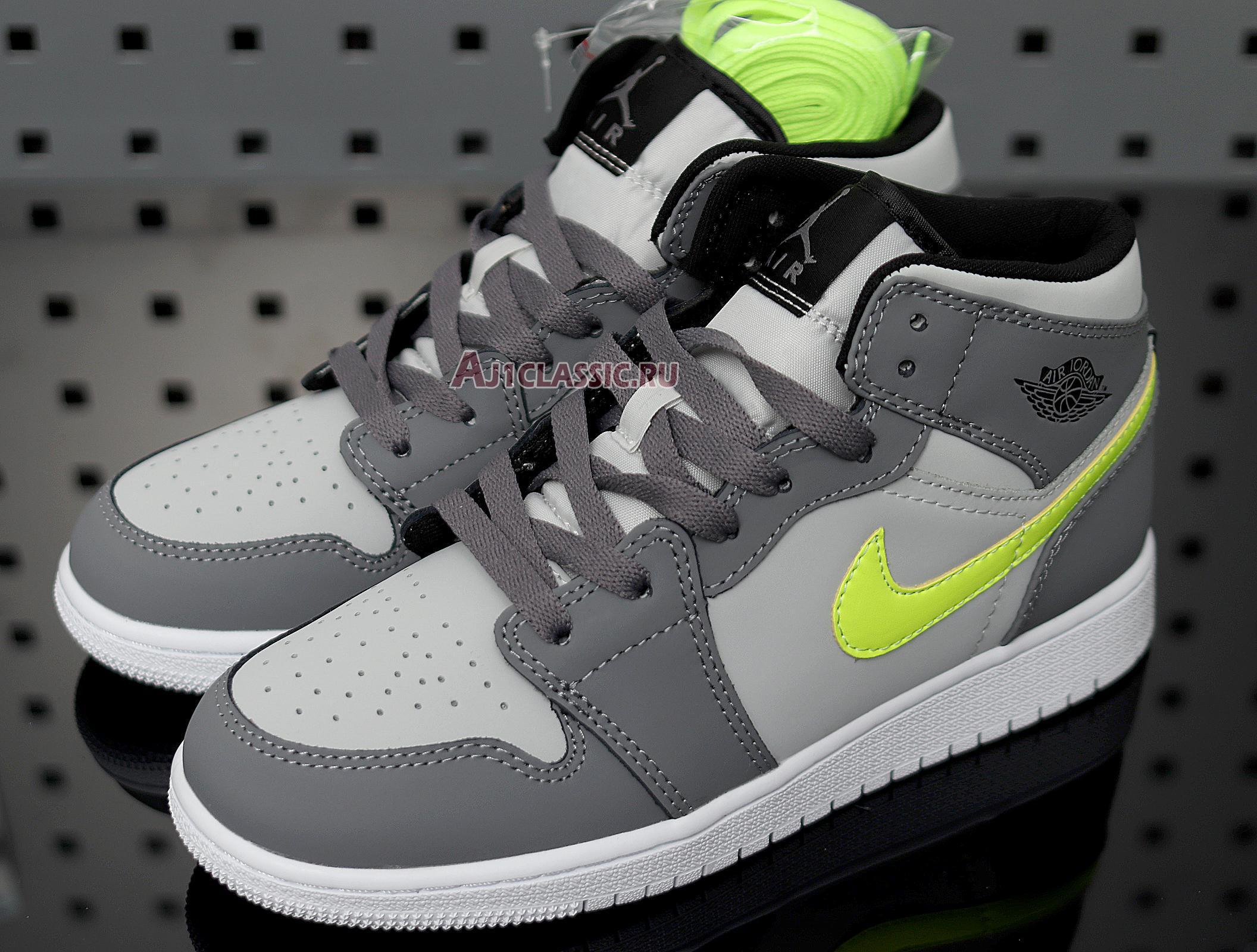 """Air Jordan 1 Mid """"Grey Volt"""" 554724-072"""