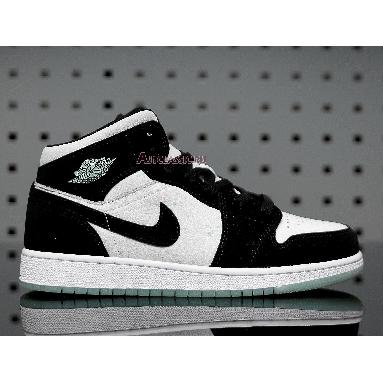 Air Jordan 1 Mid SE Glow in the Dark Panda BQ6931-103 White/Black-Teal Tint Sneakers