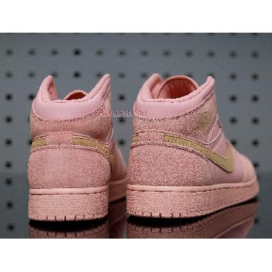 Air Jordan 1 Mid Coral Gold 852542-600 Coral/Metallic Gold Sneakers