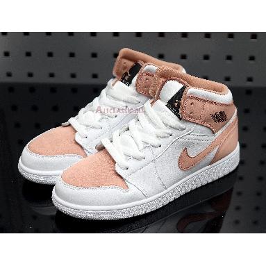Air Jordan 1 Mid GS White Rose Gold 555112-190 White/Rose Gold/Black Sneakers