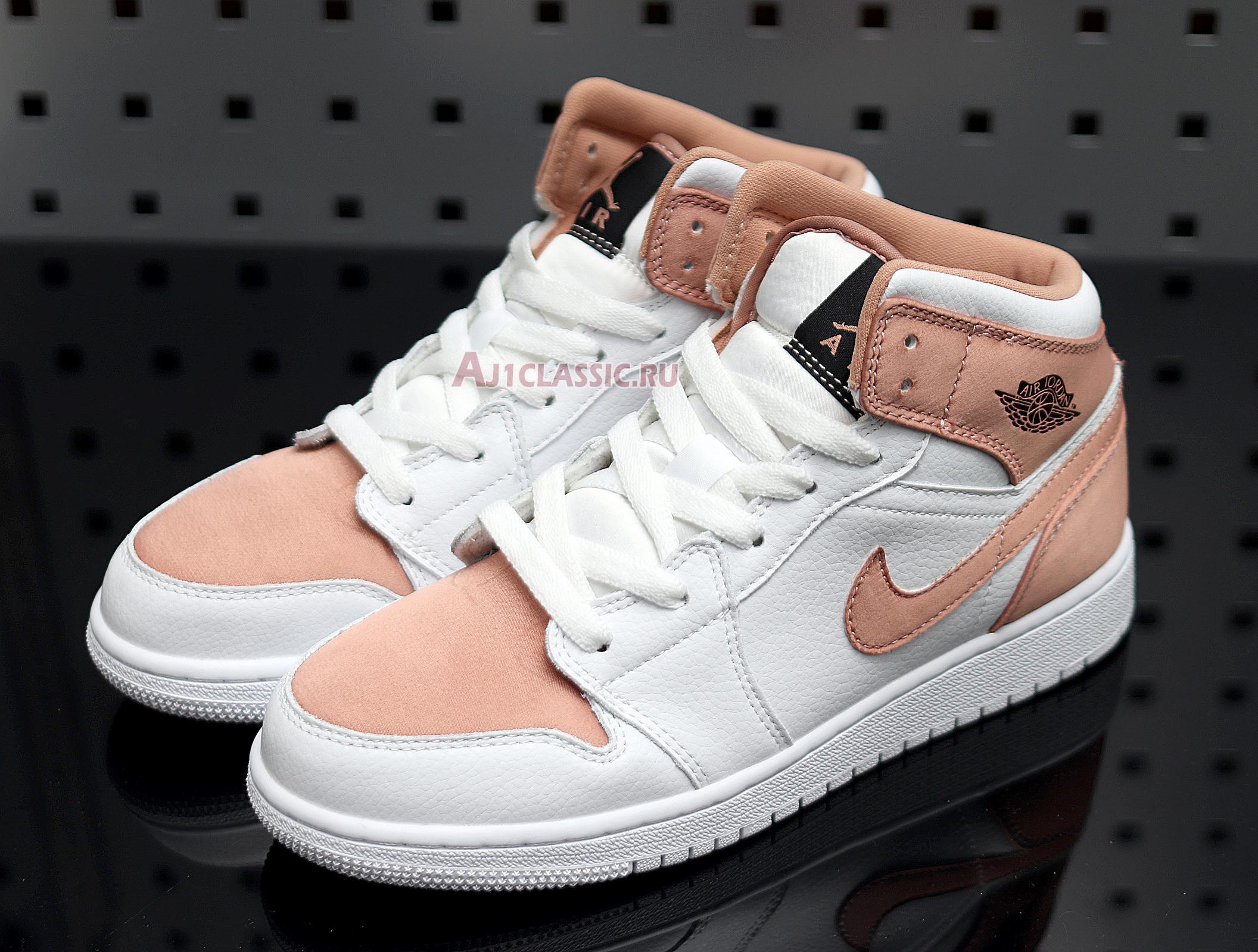 "Air Jordan 1 Mid GS ""White Rose Gold"" 555112-190"