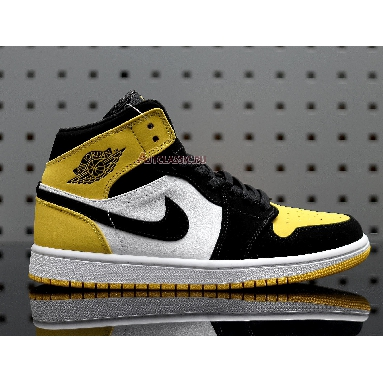 Air Jordan 1 Mid SE Yellow Toe 852542-071 Black/Black-Tour Yellow-White Sneakers