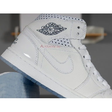 Air Jordan 1 Mid Unité Totale CI9100-100 White/Metallic Red Bronze-Midnight Navy Sneakers