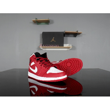 Air Jordan 1 Mid Gym Red 554724-605 Gym Red/White Sneakers