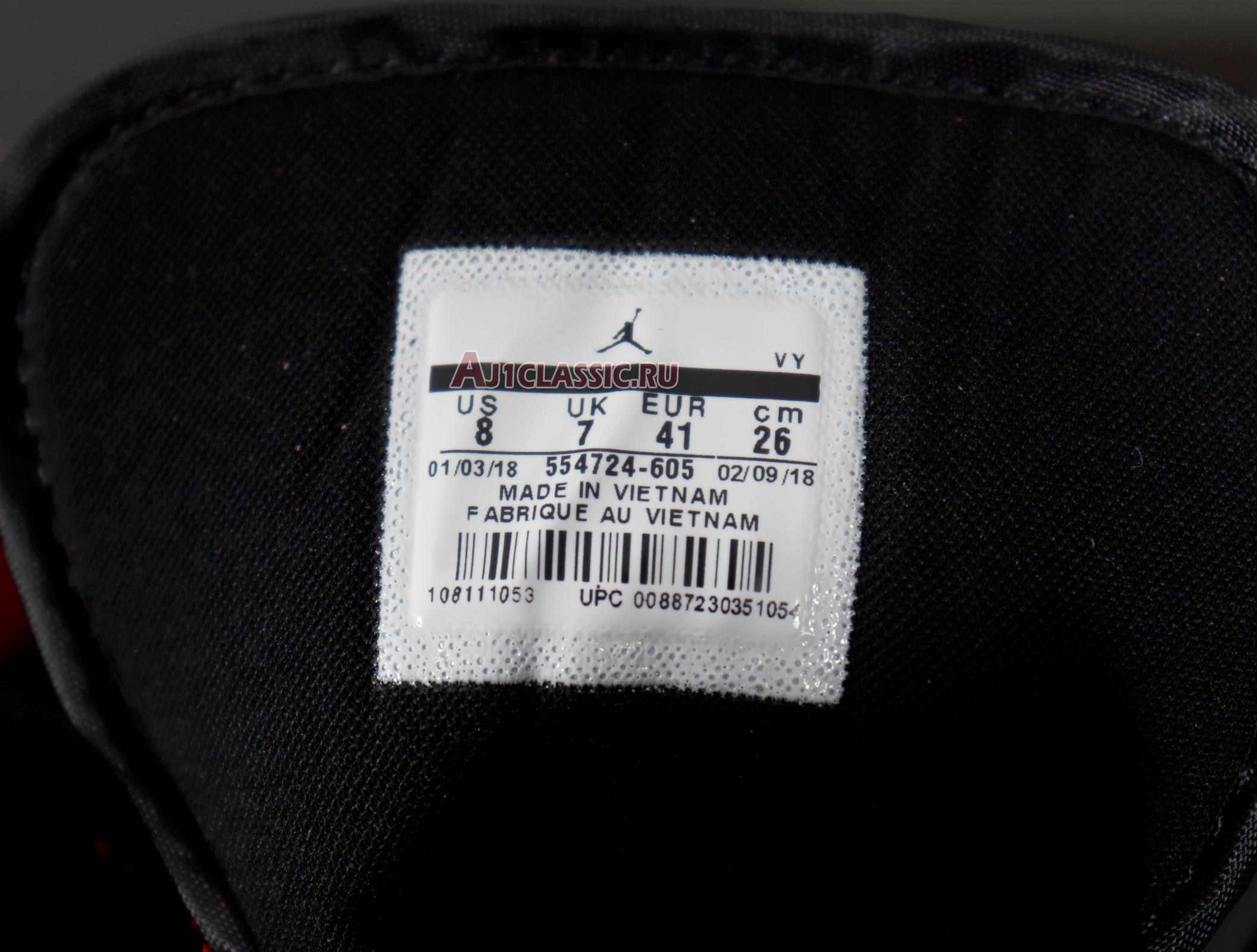 "Air Jordan 1 Mid ""Gym Red"" 554724-605"