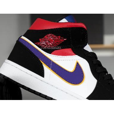Air Jordan 1 Mid SE Rivals 852542-005 Field Purple/White-Gym Red Sneakers