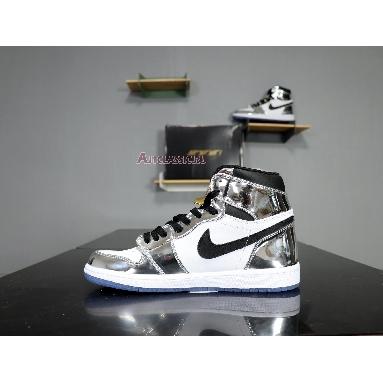 Air Jordan 1 Retro High Pass the Torch AQ7476-016 Chrome/White/Turbo Green/Black Sneakers