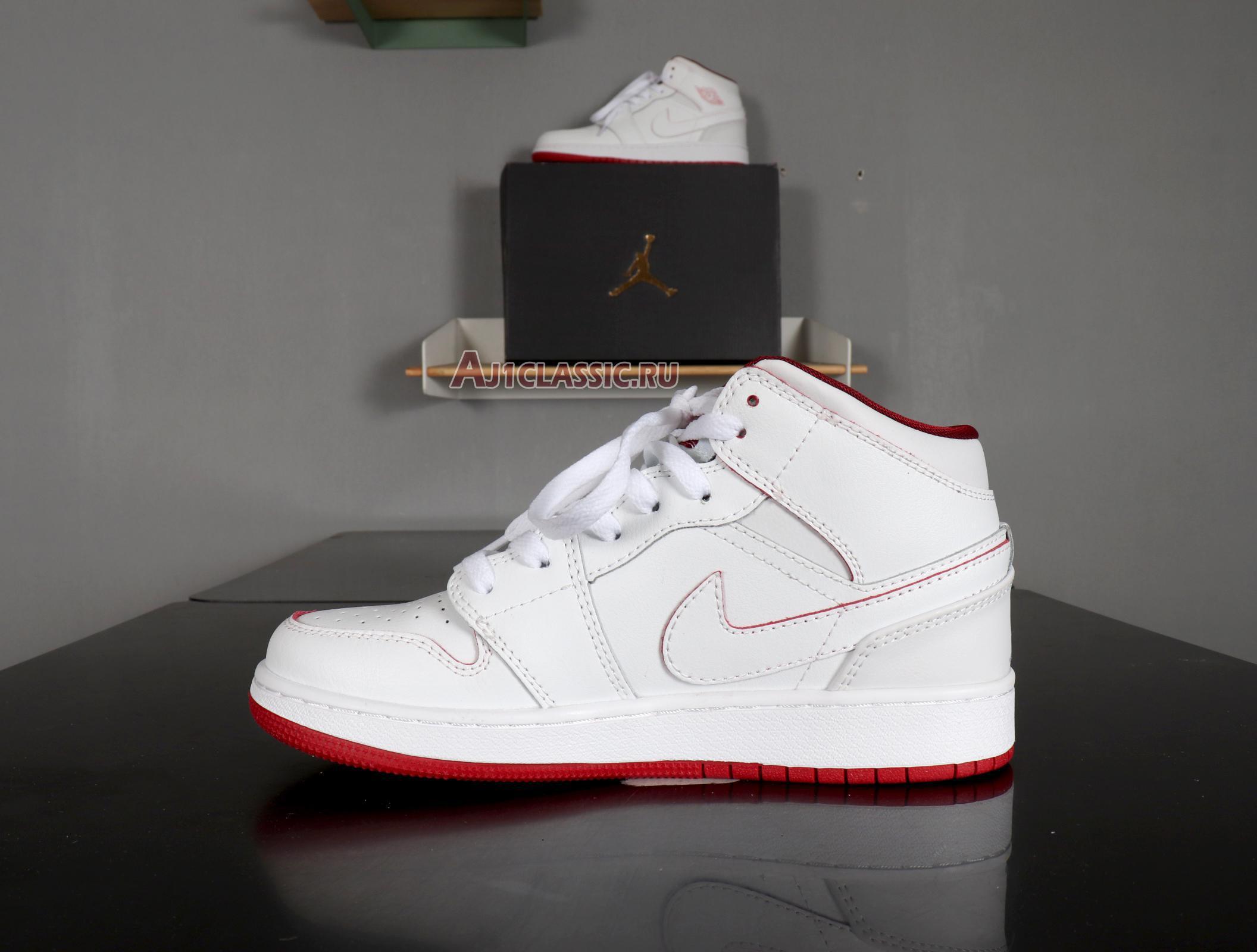 "Air Jordan 1 Retro Mid ""White Gym Red"" 554725-103"