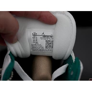 Air Jordan 1 Mid Mystic Green CD6759-103 White/Mystic Green Sneakers