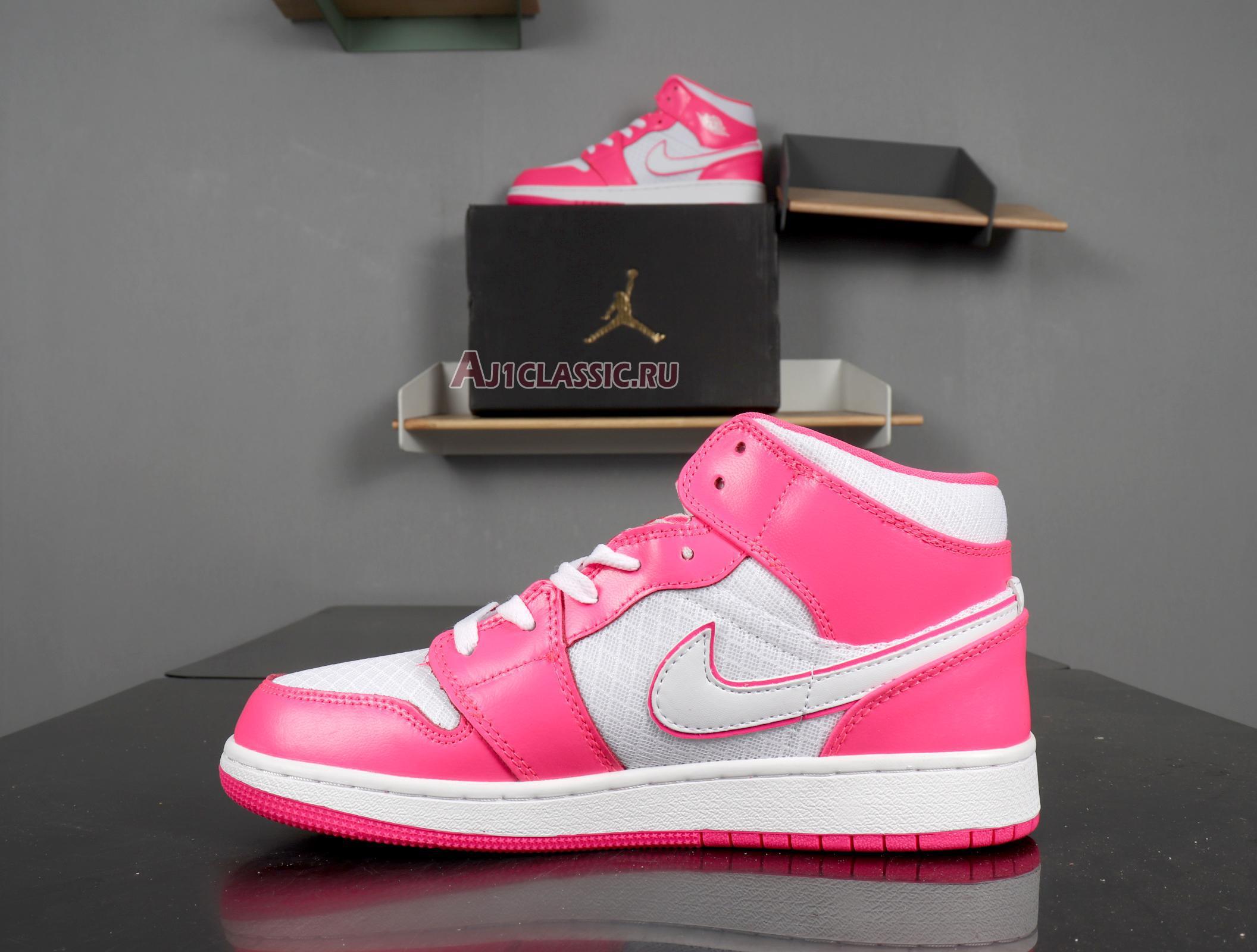 "Air Jordan 1 Mid GS ""Hyper Pink"" 555112-611"