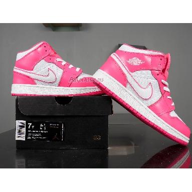 Air Jordan 1 Mid GS Hyper Pink 555112-611 Hyper Pink/White Sneakers