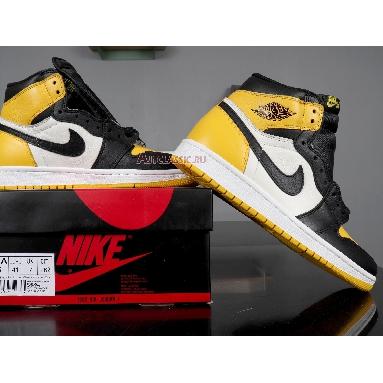 Air Jordan 1 Retro High OG Yellow Toe AR1020-700 Black/Yellow/White Sneakers