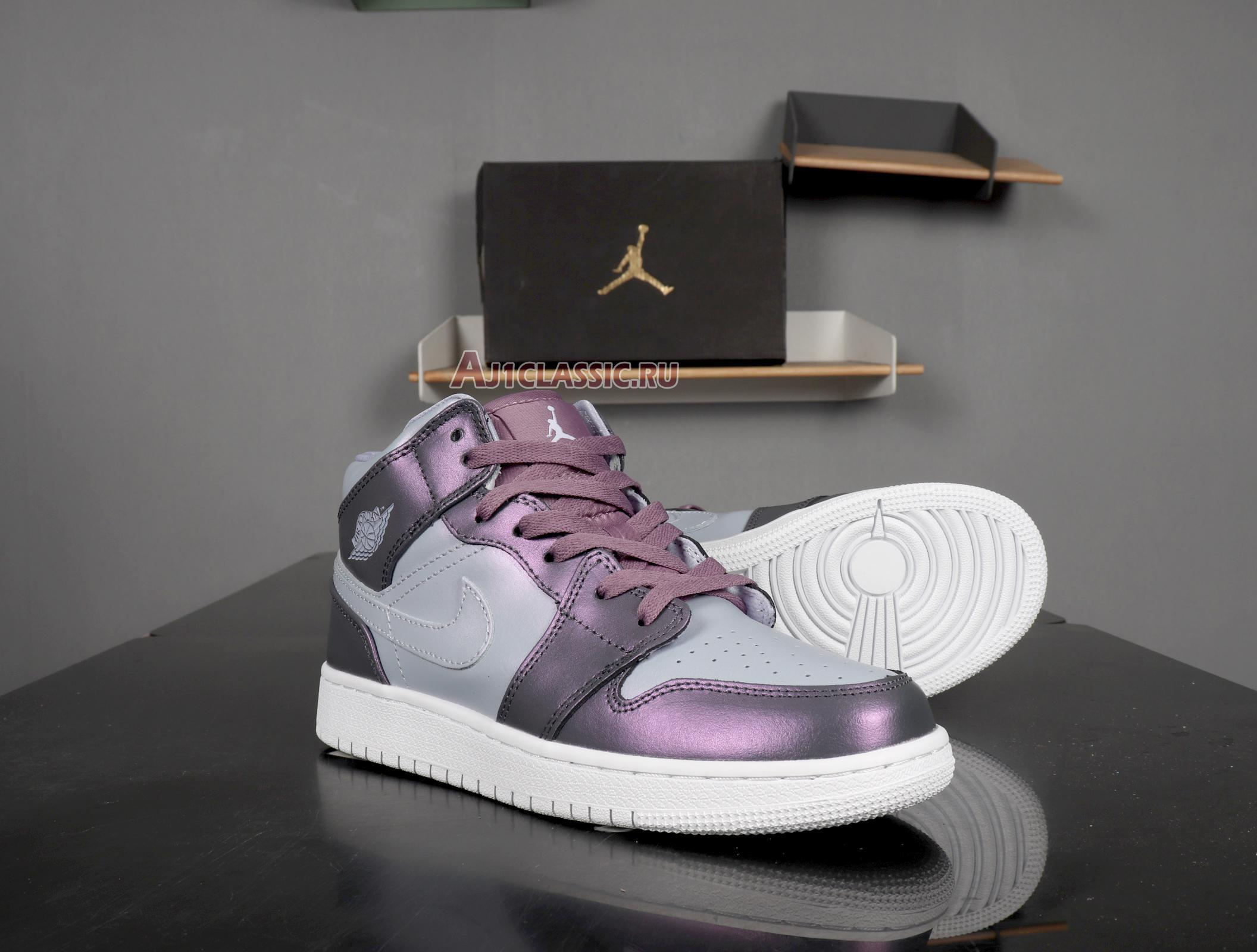 """Air Jordan 1 Mid GS """"Metallic Purple"""" AV5174-400"""