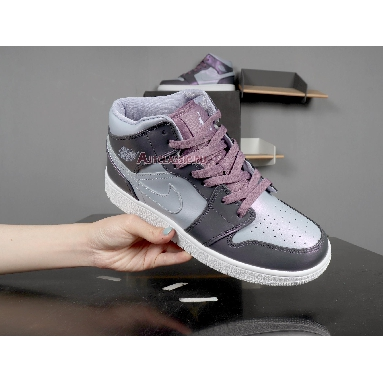 Air Jordan 1 Mid GS Metallic Purple AV5174-400 Metallic Purple/White/Black Sneakers