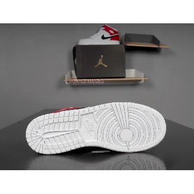 Air Jordan 1 Mid White Chicago 554724-116 White/Black-University Red Sneakers