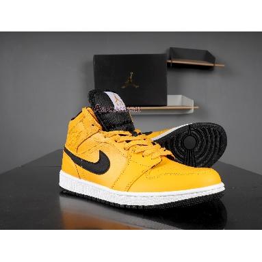 Air Jordan 1 Mid Taxi Yellow 554724-700 University Gold/White/Black/Yellow Sneakers