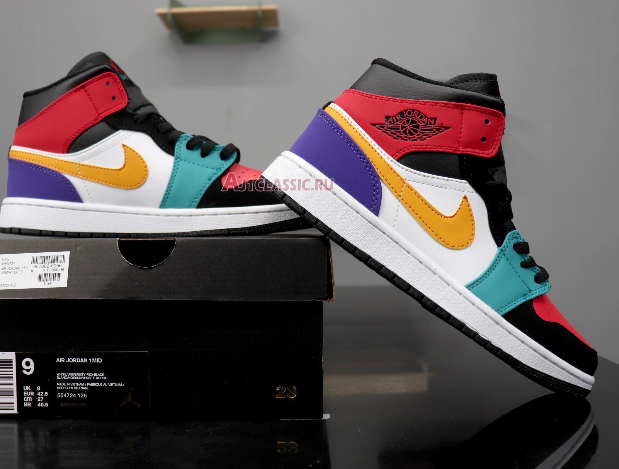 """Air Jordan 1 Mid """"Multi-Color"""" 554724-125"""