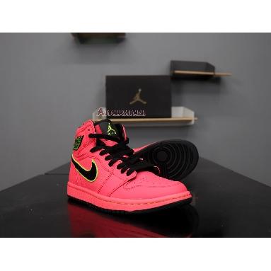 Air Jordan 1 High Premium Hot Punch AQ9131-600 Hot Punch/Black-Volt Sneakers
