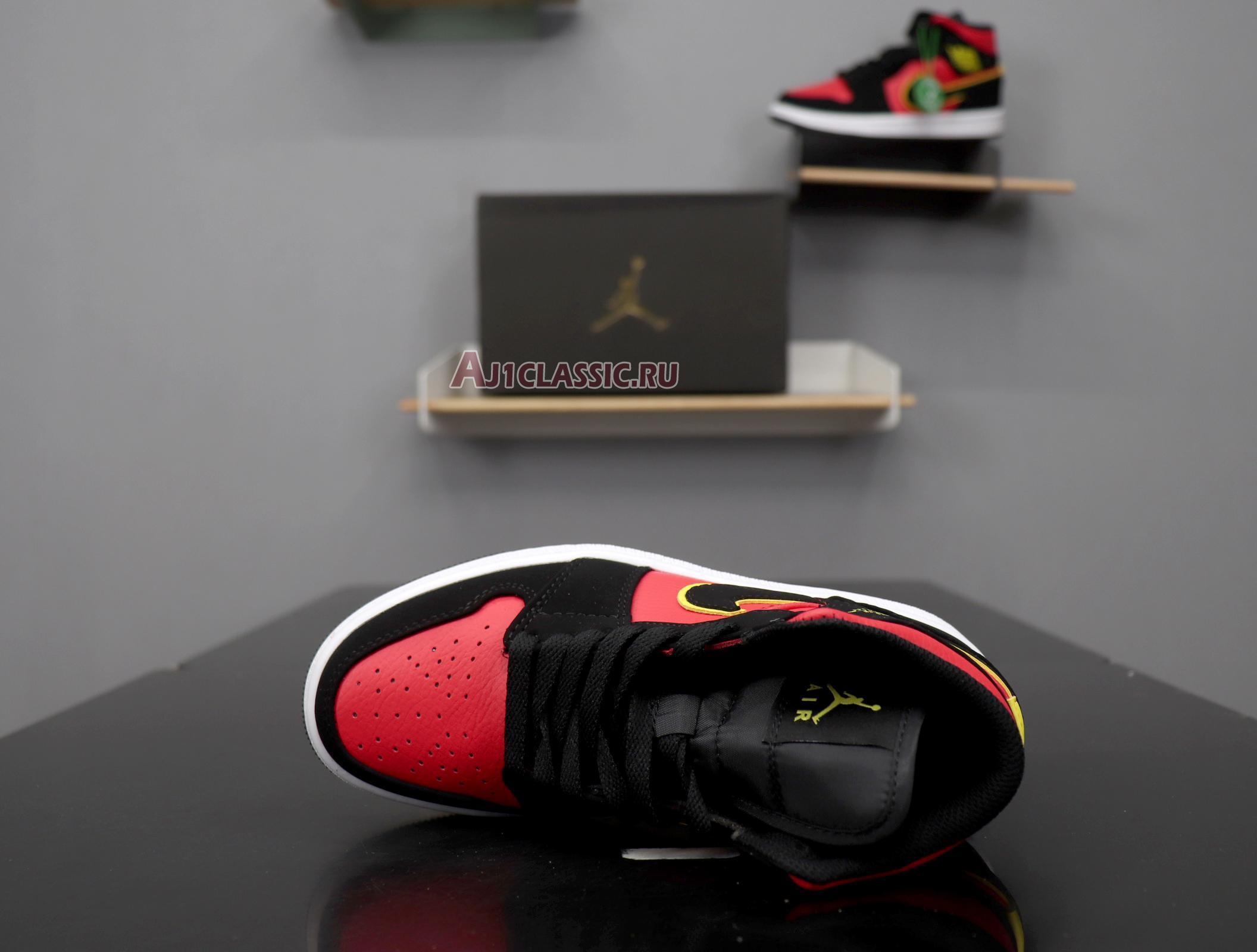 """Air Jordan 1 Retro Mid """"Hot Punch Volt"""" BQ6472-006"""