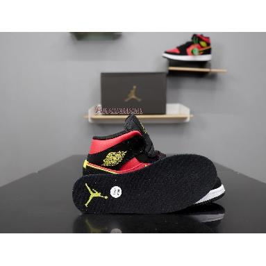 Air Jordan 1 Retro Mid Hot Punch Volt BQ6472-006 Black/Volt-Hot Punch Sneakers