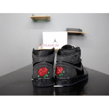 Rox Brown x Air Jordan 1 Retro High OG Black BV1576-001 Black/Black-Metallic Gold Sneakers
