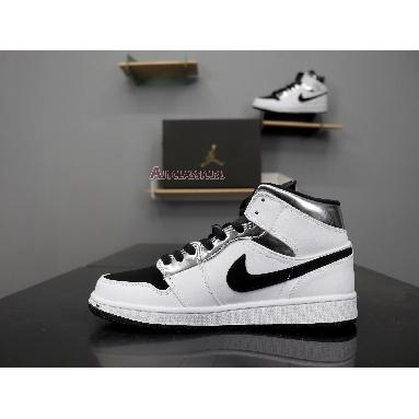 Air Jordan 1 Mid White Silver 554724-121 White/Silver Sneakers